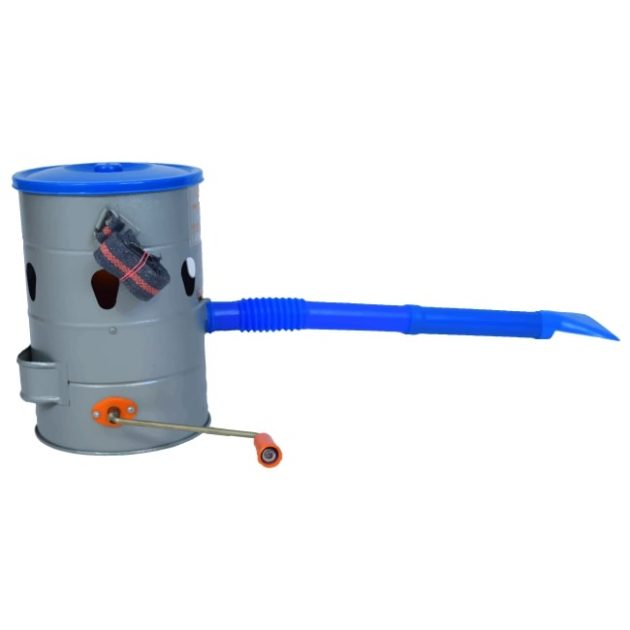 Side View Hand Rotary Duster Agriculture Pesticide Powder Sprayer Dust Applicator