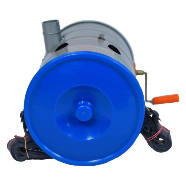 Top View with lid Hand Rotary Duster Agriculture Pesticide Powder Sprayer Dust Applicator